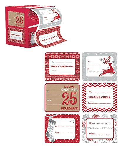 Jumbo-Christmas-Gift-Tag-Stickers-60-Count-Modern-Red-White-Silver-and-Gold-Xmas-Designs-Looks-Great-on-Gifts-Presents-Wrapping-Paper-and-Gift-Bags