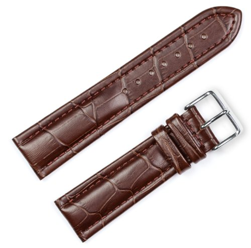 Breitling Style Matte Alligator Grain Watchband Brown 26mm Watch band - by deBeer