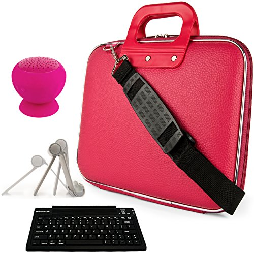 Omega Computer Case - SumacLife Magenta Cady Carrying Case Bag w/Keyboard, Speaker, Stand for Vulcan Omega II 8.95