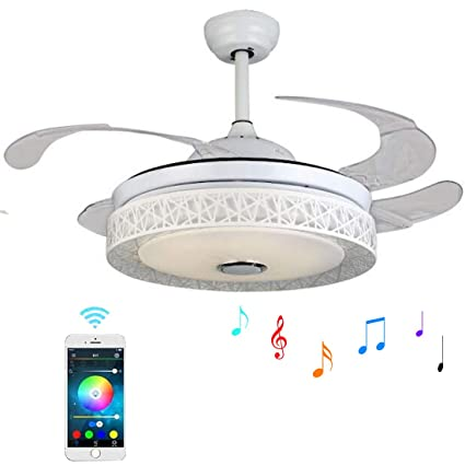 Awe Inspiring 42 Inch Ceiling Fan Light With Bluetooth Speaker And Remote Download Free Architecture Designs Embacsunscenecom