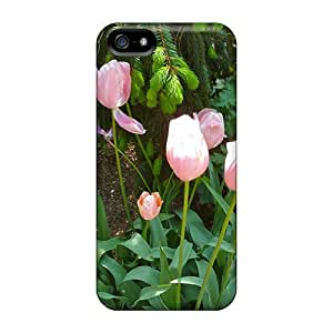 Protective Tpu Case With Fashion Design For Iphone 5/5s (light Pink Tulips)