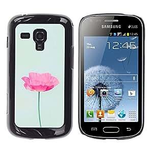 Be Good Phone Accessory // Dura Cáscara cubierta Protectora Caso Carcasa Funda de Protección para Samsung Galaxy S Duos S7562 // poppy flower spring pink green spring
