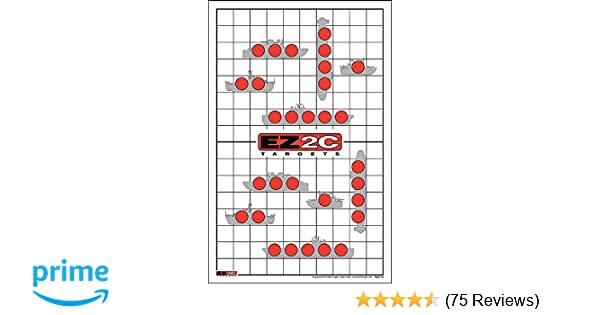 picture regarding Printable Shooting Targets 11x17 identified as EZ2C Goals Style and design 22 - Sink the Boats! Taking pictures Wide variety Exciting Sport (25 Pack)