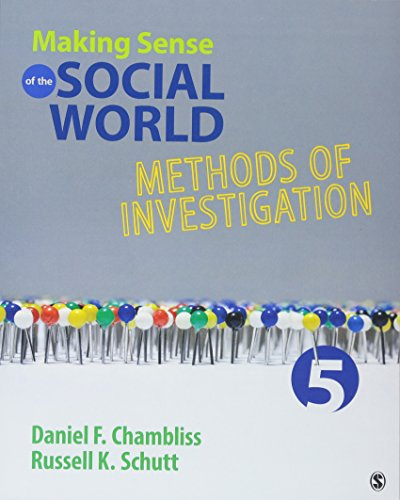Making Sense of the Social World: Methods of Investigation