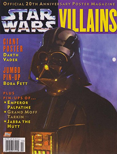 Official Star Wars 20th Anniversary Poster Magazine: Villains #1 VF ; Topps comic book