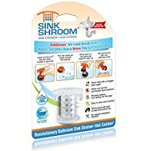 SinkShroom The Revolutionary Sink Drain Protector Hair Catcher/Strainer/Snare, Clear
