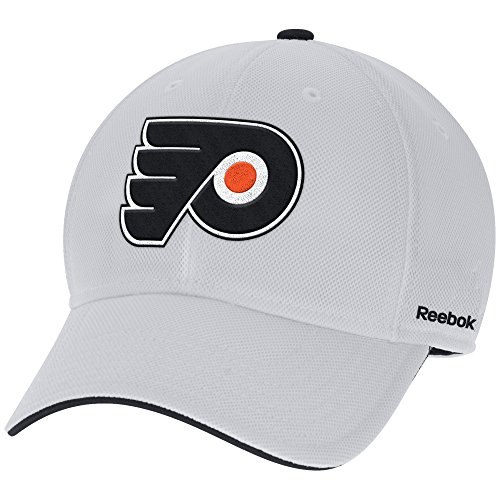 Reebok NHL Philadelphia Flyers Adult men NHL Pro Shape Structured Flex,S/M,White