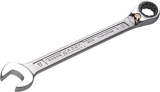 HAZET 606//5 KNARREN-RING-MAULSCHLÜSSEL-SATZ 5-teililg SCHLÜSSEL 8,10,13,17,19mm