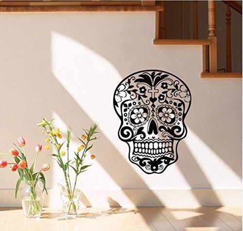 JHKUNO Wall Décor Stickers, Halloween Skeleton Background Decorated Living Room Bedroom Wall Stickers (A)