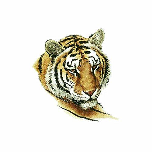WYUEN 5 Sheets Tiger Temporary Tattoo Sticker Fake Waterproof Tattoo For Women Kids Body Art 9.8X6cm FA-321