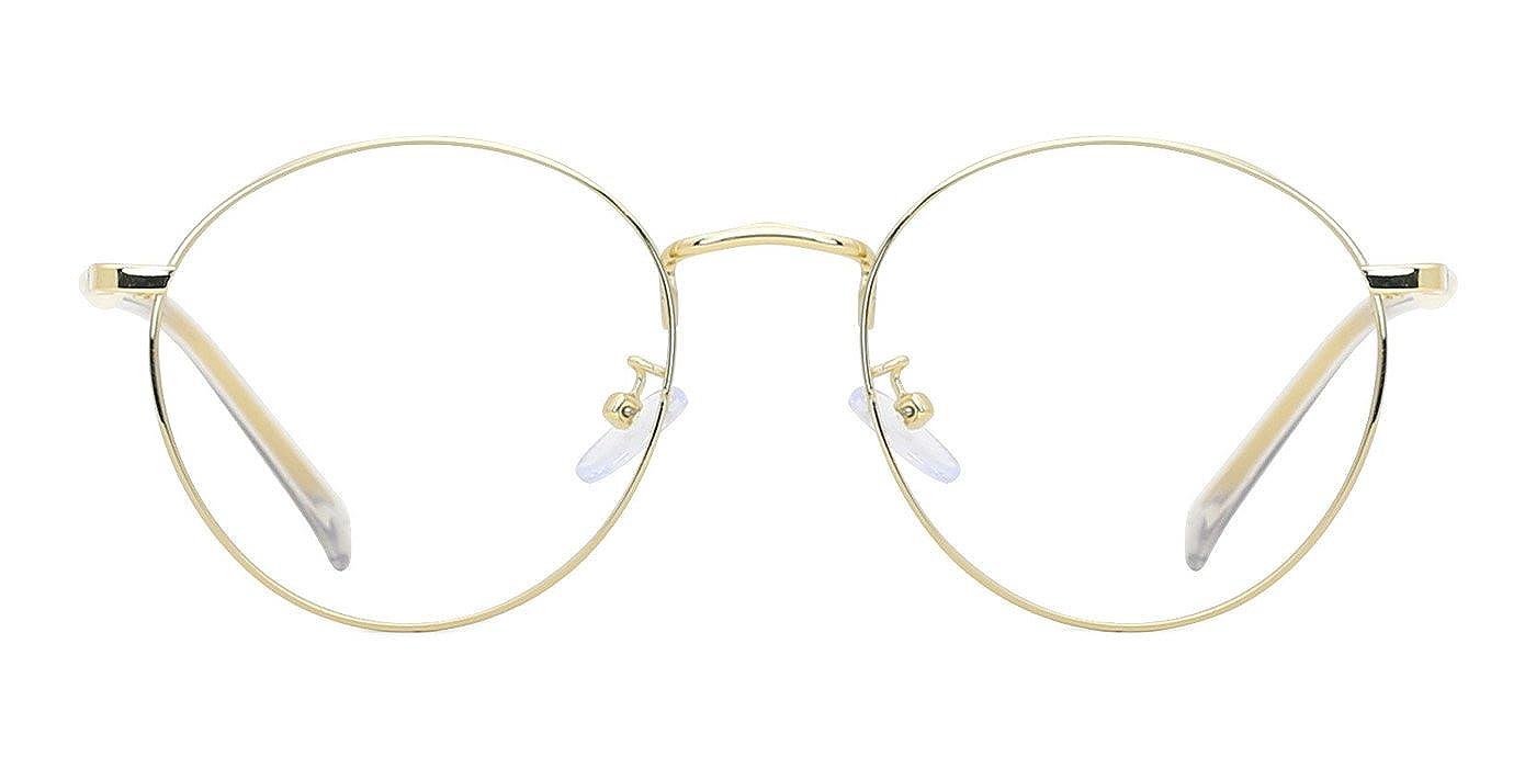 TIJN Oversized Gold Umrandete Rahmen Große Runde Metall Brillen für ...
