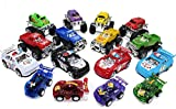 16 Pull Back Cars and Trucks Deluxe Combo Bundle , (Includes 4 Monster Pull Back Trucks - 4 Pull Back Pick Up Trucks- 4 Pull Back Race Cars and 4 Pull Back Police Cars) in a Plastic Storage Box.