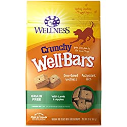 Wellness Wellbars Crunchy Wheat Free Natural Dog Treats, Lamb & Apple, 20-Ounce Box