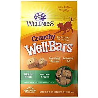 Wellness Crunchy WellBars Lamb & Apples Recipe Baked Grain-Free Dog Treats, 20 Ounce Bag