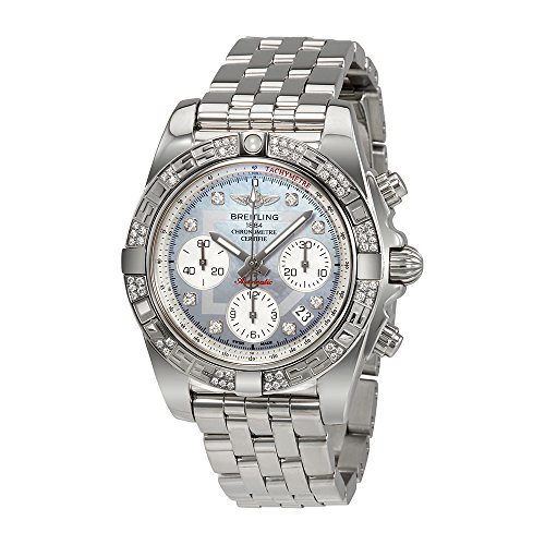 Breitling Chronomat 41 Automatic Mother of Pearl Diamond Dial Mens Watch AB0140AA-G712SS