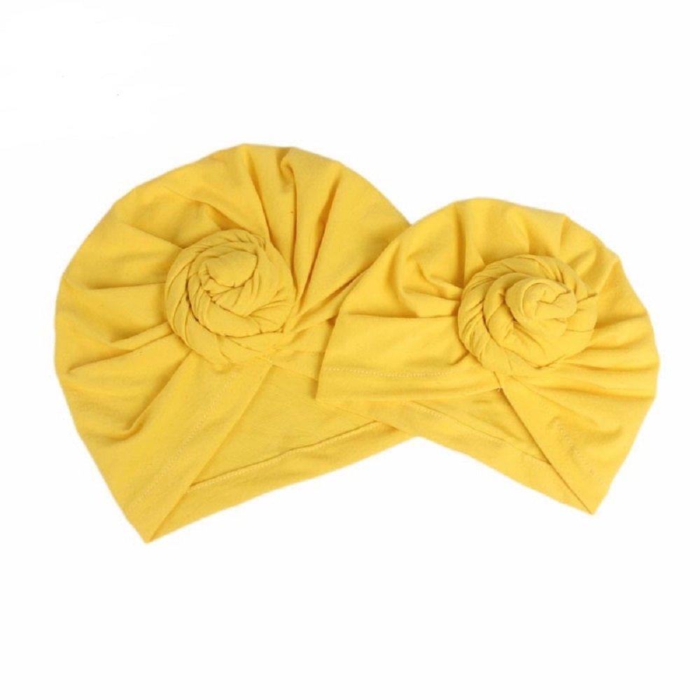 BALANSOHO Baby Hats Beanie Knotted Headband Soft Cotton Caps Fashion Mommy Kids Turban Hat Cap Newborn Gift