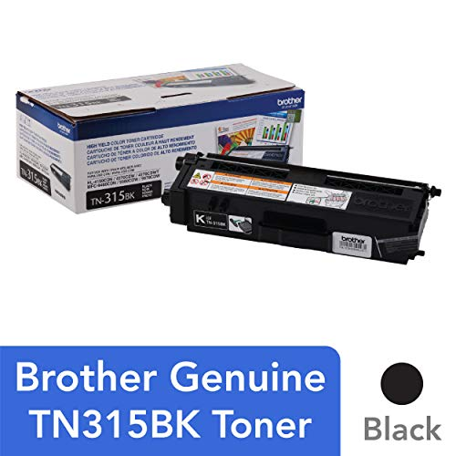 (Brother Genuine High Yield Toner Cartridge, TN315BK, Replacement Black Toner, Page Yield Up To 6,000 Pages, TN315)