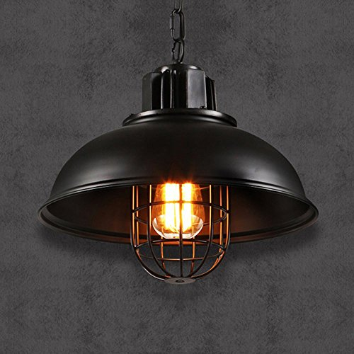 Fishermans Pub - Mozeny Vintage Industrial Fisherman Metal Iron Pendant Lamp Retro Cage Lampshade Loft Ceiling Pendant Light Iron E27 Adjustable Chandelier Hanging Lamp for Farmhouse Kitchen Restaurant Bar Pub