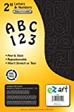Headline Sign 6102 EZ Art Peel-and-Stick Letters and Numbers, 2-Inch, 79 Pieces, Black