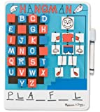 Melissa & Doug Flip to Win Travel Hangman Game - White Board, Dry-Erase Marker