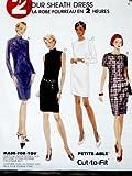 McCall's 8343 Misses' 2 Hour Sheath Dress, Size B (8, 10, 12)