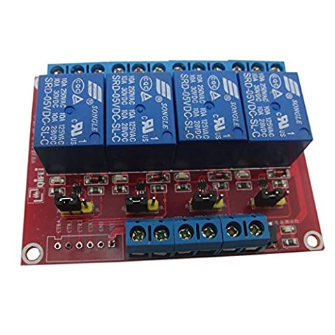 MonkeyJack 5V 4 Channel Relay Module for Arduino ARM PIC AVR DSP Pi Electronic 10A - Four Channel Module
