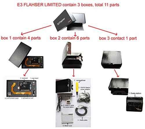 Original E3 Flasher Limited edition 11 parts accessories ps3 downgrade tool