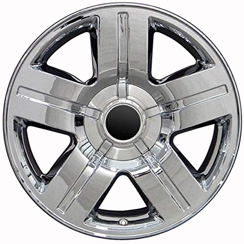 Partsynergy Replacement For Chrome Wheel Rim 20 Inch Fits 1999-2018 Chevrolet Silverado 1500 6-139.7mm 5 Spokes Chrome 20x8.5