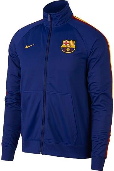 Nike FC Barcelona 2018-2019 Anthem Line Up  Soccer Jacket Royal Blue Red