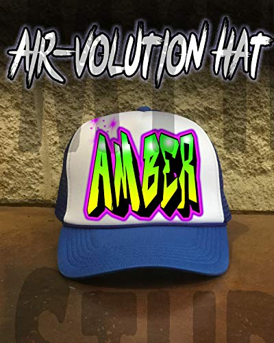 (Personalized Airbrush Name Design Snapback Trucker)