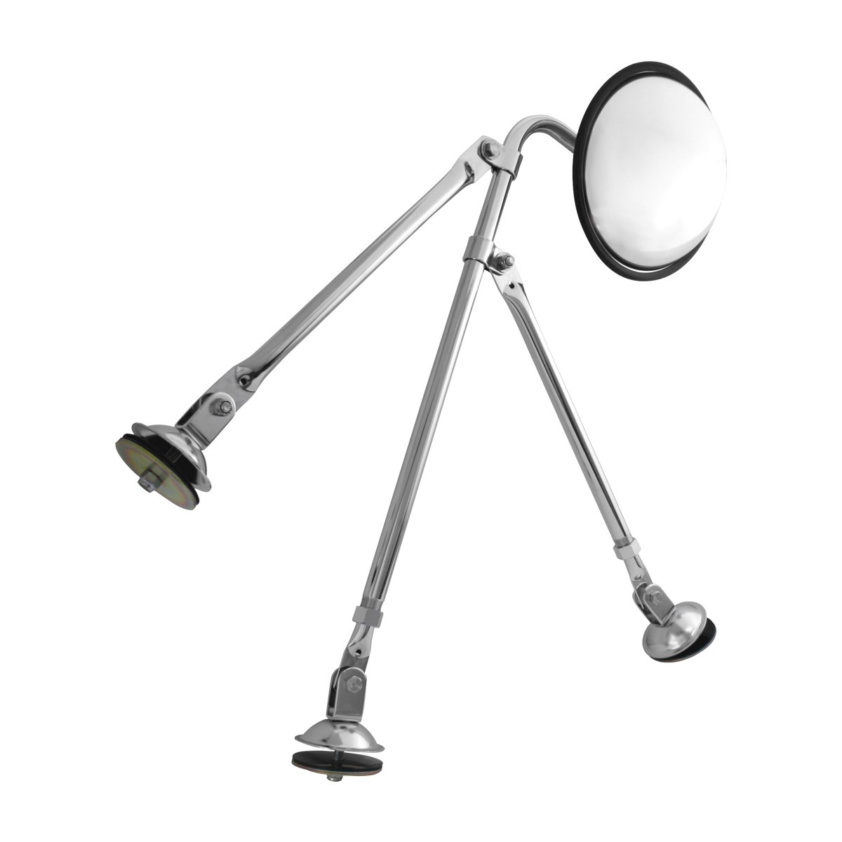 """Utility Vehicles and More GG Grand General Grand General 33324 Chrome Tripod Fender Mount 8.5/"""" Convex Mirror Set for Trucks Buses"""