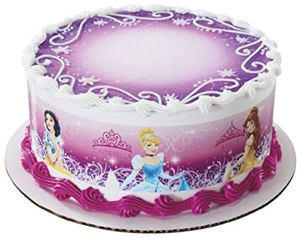 Amazon Com Disney Princess Edible Cake Border Decoration Kitchen