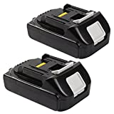 Enegitech 2.0Ah LXT Lithium-Ion Replacement for Makita 18V Battery BL1820 BL1830 BL1840 BL1850 LXT-400 194204-5 Cordless Power Tools 2 Pack ( Note Fit for DC18RA Charger)