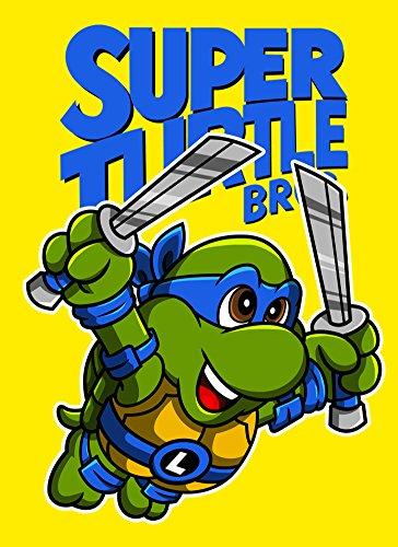 Rectangle Refrigerator Magnet - Super Turtle Bros Leo - Parody (Art Rectangle Magnet)