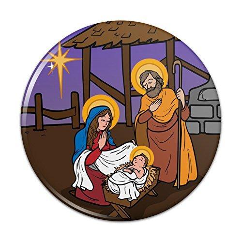 Nativity Scene Baby Jesus Mary Joseph Christmas Christian Bible Pinback Button Pin Badge - 3
