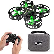 Dwi Dowellin Mini Drone for Kids Crash Proof One Key Take Off Landing Spin Flips RC Small Drones for Beginners