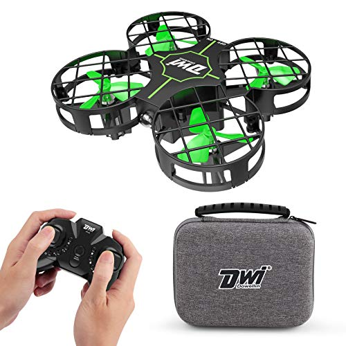 Dwi Dowellin 2.7 Inch Mini Drone for Kids One Key Take Off Landing Spin Flips RC Small Drones for Beginners Boys and…