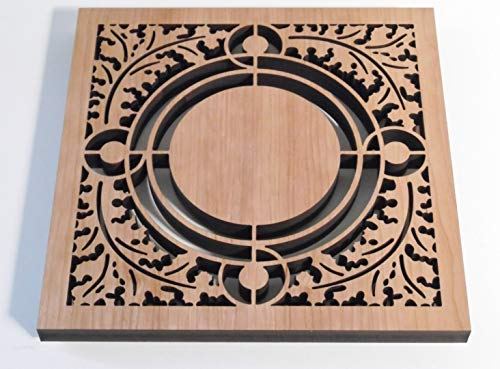Frank Lloyd Wright ROBERTS SKYLIGHT Design Laser Cut Wood Trivet