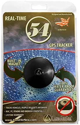 LandAirSea 54 Waterproof Magnet Mount Real Time 4G LTE GPS Tracker for Vehicle, Personal and Asset Tracking. SIM Included. Monthly Subscription Required