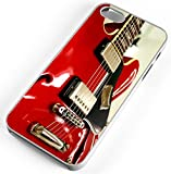 iPhone Case Fits Apple iPhone 8 PLUS 8+ Red Electric Guitar Rock And Roll Clear Plastic