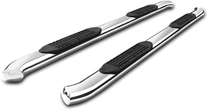 Gldifa 4 Bent Oval Running Boards fit 2004-2008 Ford F150 Super//Extended Cab 2 Half Size Rear Doors Nerf Bar Side Step Rails