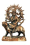 """TRUSTED SELLER Special 14"""" Metal Copper Plated Durga Statue Handmade Home Decor Art Best Gift"""
