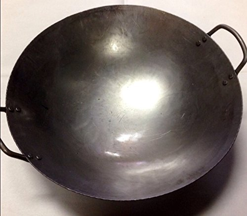 14 inch Carbon Steel Hand Hammered Wok (incl. wok ring) (Chinese Stir Fry Pan compare prices)