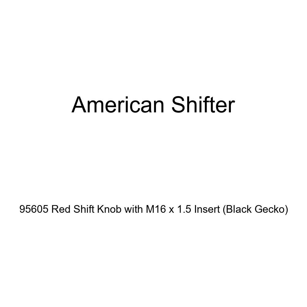 American Shifter 95605 Red Shift Knob with M16 x 1.5 Insert Black Gecko