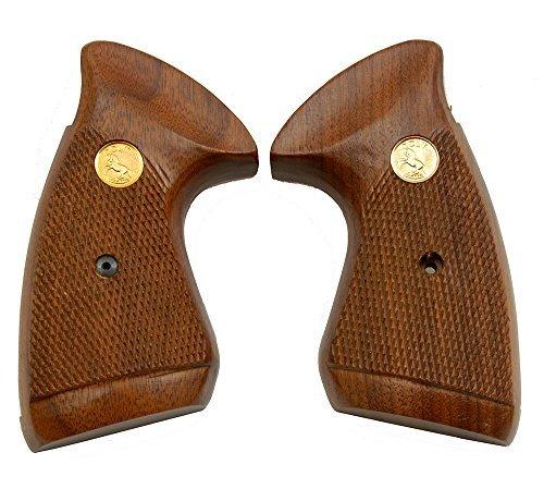 Numrich Gun Parts Original Colt J Frame MKIII Walnut Target Square Butt Grips