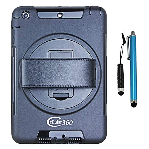 Cellular360 Shockproof Case for Apple iPad Mini 1 iPad Mini 2 iPad Mini 3 - Handy Case with 360 Degree Rotatable Kickstand and Handle (Black)