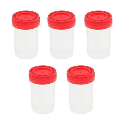MagiDeal 25pcs Taza de Muestras Medición Recipiente Estéril Orina 60ml Plástico
