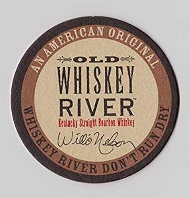 Old Whiskey River OWR Kentucky Straight Bourbon Whiskey Paperboard Coasters - Set of 4 - Features Willie Nelson Signature