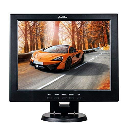 12 Inch LCD Security CCTV Monitor, 800X600 4:3 Resolution HD Color TFT LCD Display Screen with VGA/HDMI/AV/BNC/MIC USB Ports for Surveillance Camera, STB and Other Video Equipment, Built-in Speaker ()