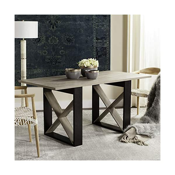 Safavieh Home Collection Monty Modern Farmhouse Light Grey 30-inch Dining Table